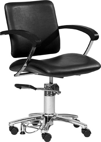 hairway fauteuil de coiffure augusta roulette noir. Black Bedroom Furniture Sets. Home Design Ideas